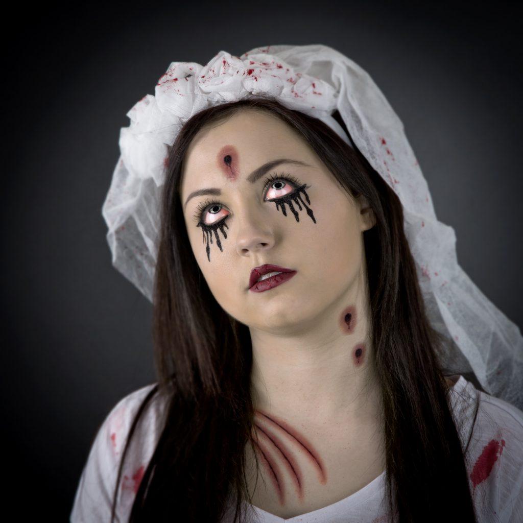 Dealz Zombie Bride Face Paint Step By Step