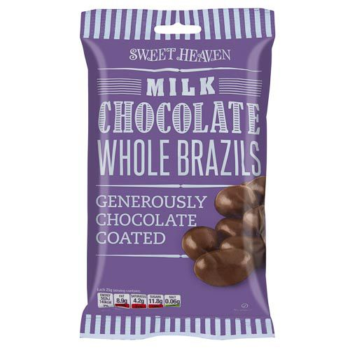 SWEET HEAVEN MILK CHOCOLATE BRAZILS 175G