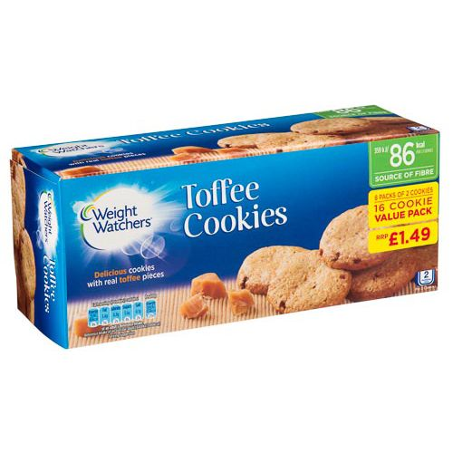 WEIGHT WATCHERS TOFFEE COOKIES 8 PACK 152G