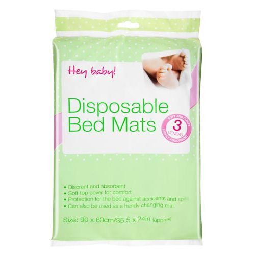 DISPOSABLE BED MAT 3 PACK