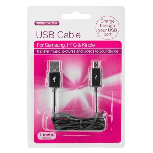 USB TO MICRO 5 PIN CHARGING CABLE 1M