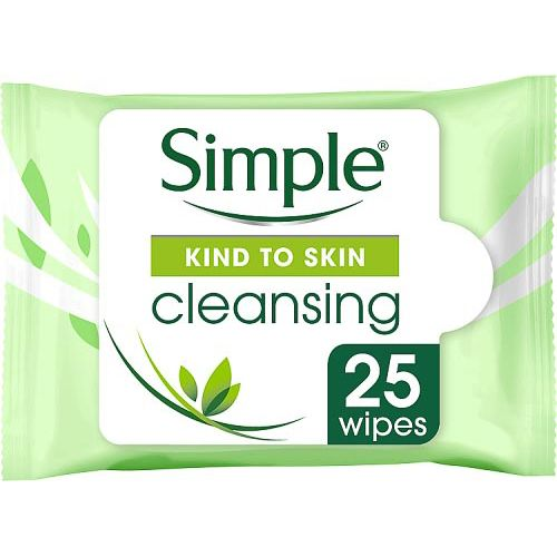 SIMPLE CLEANSING WIPES 25 PACK