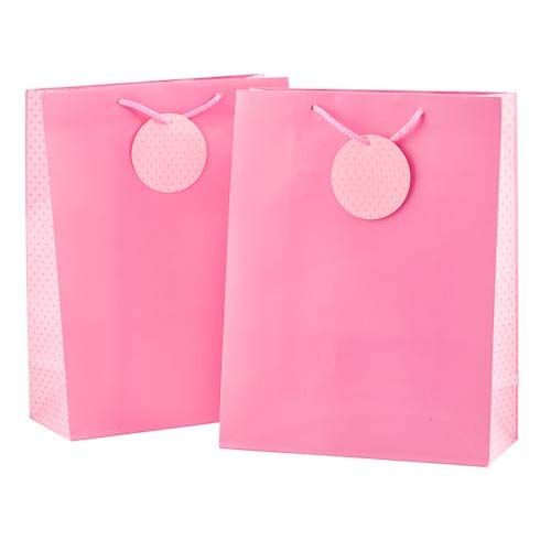 BABY PINK LARGE GIFT BAG 2 PACK