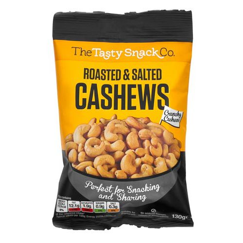 ROASTED & SALTED CASHEWS 130G