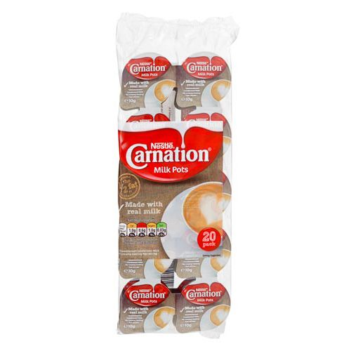 CARNATION MILK POTS 20 PACK