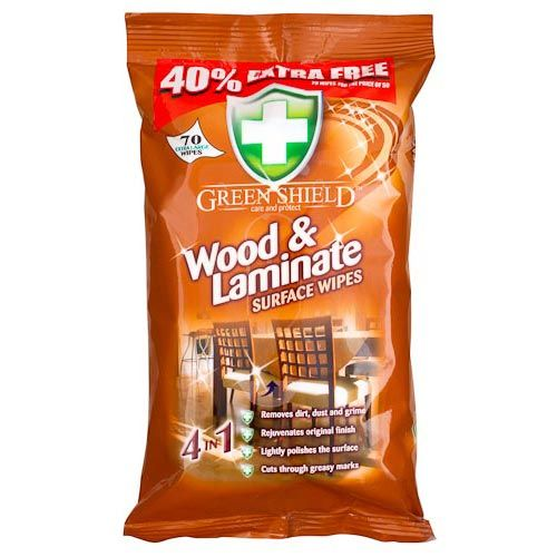WOOD & LAMINATE SURFACE WIPES 70 PACK