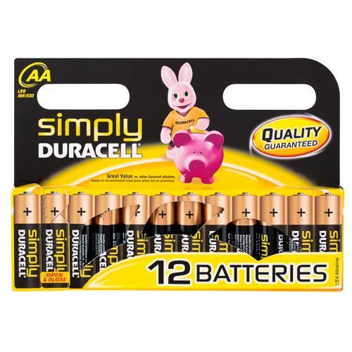 Duracell Aa Alkaline Batteries 12 Pack