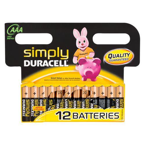 Duracell Aaa Alkaline Batteries 12 Pack