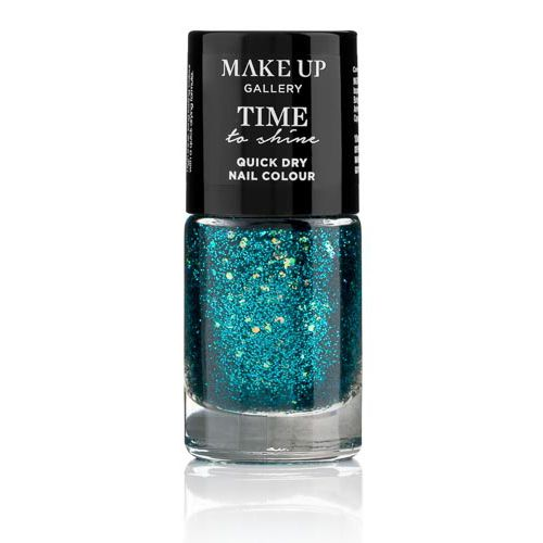 MAKE UP GALLERY TIME TO SHINE NAILS TEAL TINSEL