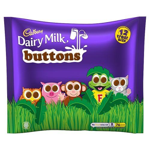 Cadbury Dairy Milk Buttons 12 Treatsize Bags 170g