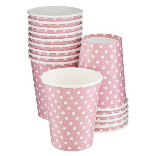 15PK PINK POLKA DOT CUPS
