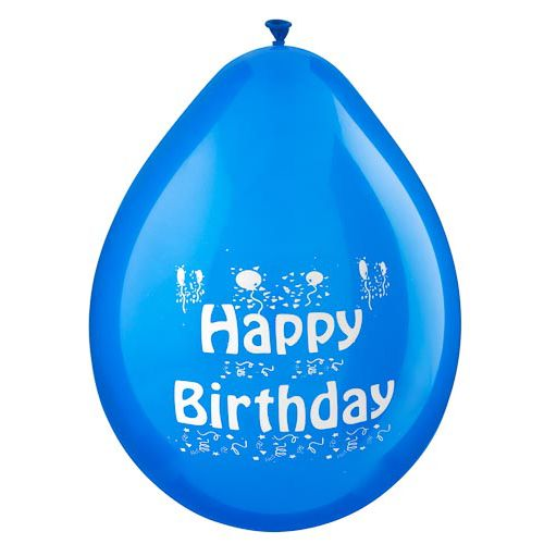 15pk BLUE HB BOY BALLOONS