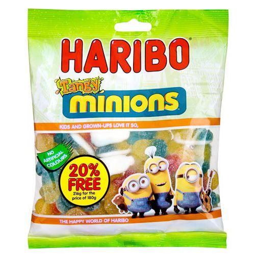 HARIBO TANGY MINIONS 216G 20% FREE