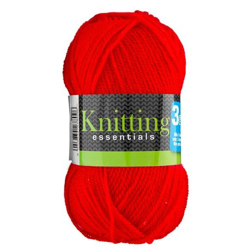 DOUBLE KNIT YARN RED 50G