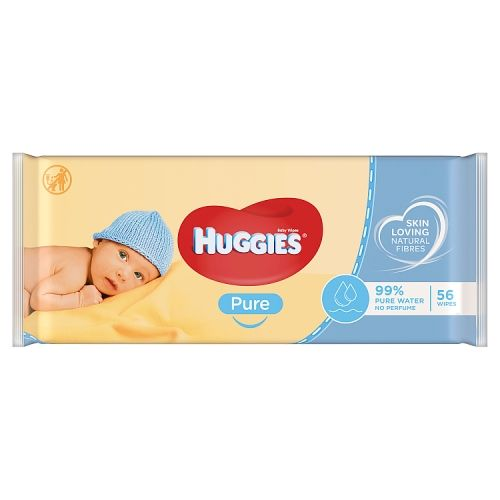Huggies Pure Baby Wipes 56 Pack