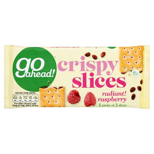 Go Ahead Crispy Fruit Slices Raspberry 5 Pack