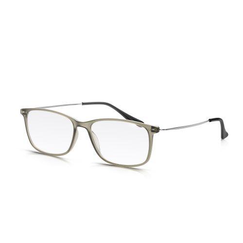 Grey Plastic, Metal Arm Reading Glasses +3.50