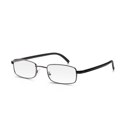 BLACK METAL FRAME READING GLASSES +3.00