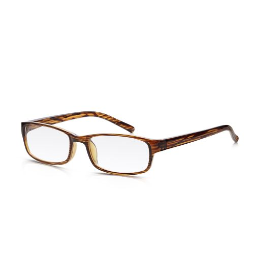 Plastic Wood Frame Reading Glasses +2.00