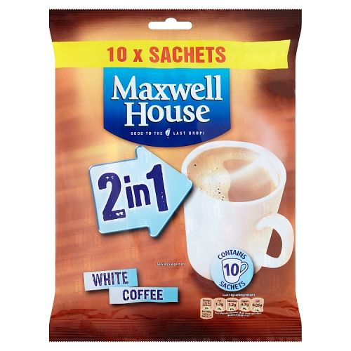 Maxwell House 2in1 Instant Coffee Sachets 10x16g