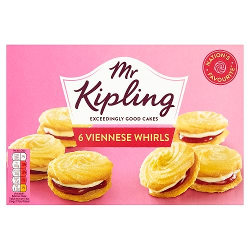 Mr Kipling Viennese Whirls 6 Pack