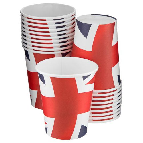 UNION JACK PAPER CUPS 20 PACK