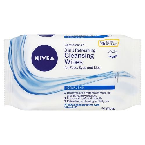 NIVEA 3IN1 REFRESHING CLEANSING WIPES NORMAL SKIN