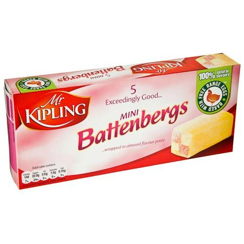 Mr Kipling Mini Battenbergs 5 Pack