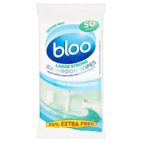 BLOO OCEAN MIST STRONG BATHROOM WIPES 50 PACK