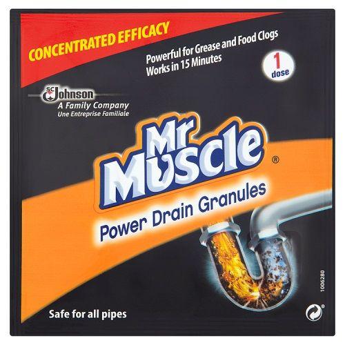 MR MUSCLE POWER DRAIN GRANULES 50G SINGLE USE