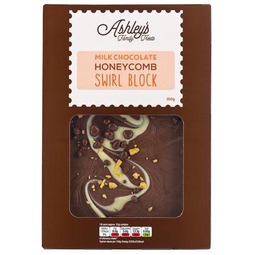 Ashleys Family Treats Choc Honeycombe Swirl 150g