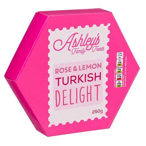 Ashely's Rose Lemon Turkish Delight 250g