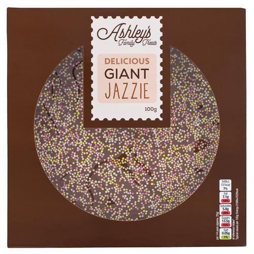 ASHLEY'S GIANT MILK CHOCOLATE JAZZIE 100G
