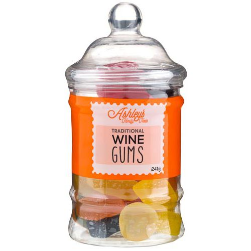 Ashleys Family Wine Gums Jar 241g