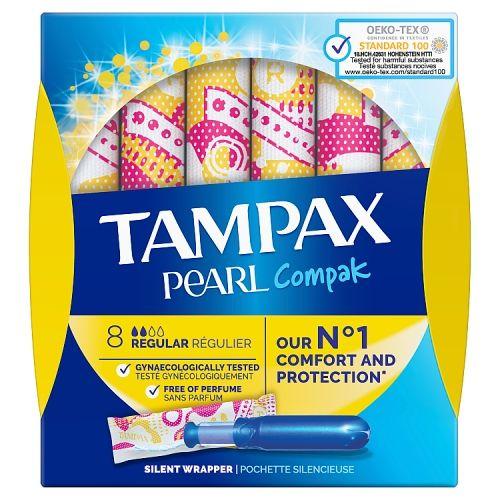 Tampax Compak Pearl Regular 8 Pack