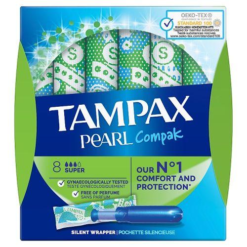 Tampax Compak Super Pearl 8 Pack