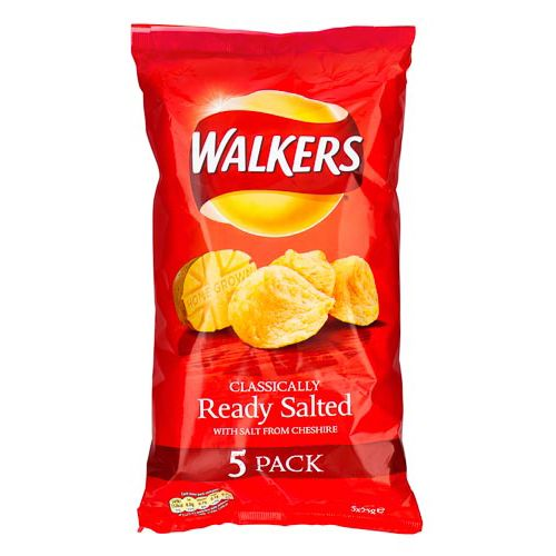 Walkers Ready Salted Crisps 5 Pack