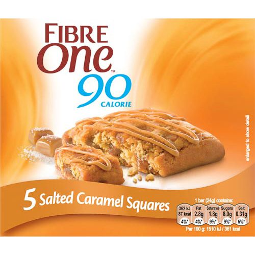 FIBRE ONE SALTED CARAMEL BARS 5X24G