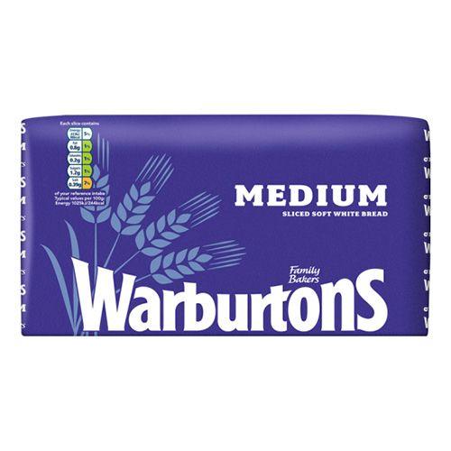 800g Warbutons Medium Bread