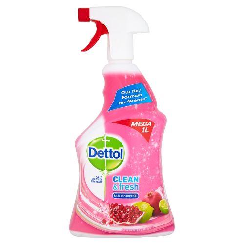 Dettol Power & Fresh Pomegranate Trigger Spray 1l