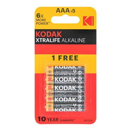 KODAK XTRALIFE ALKALINE AAA 4+1