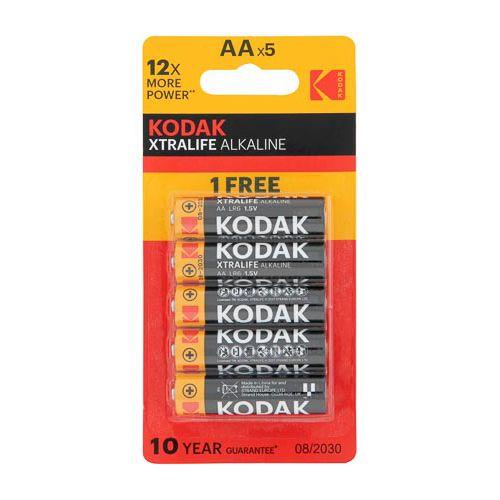 KODAK XTRALIFE ALKALINE AA 4+1