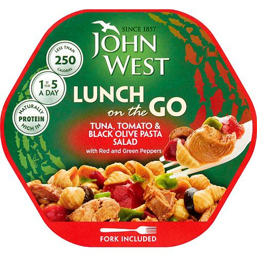 JOHN WEST TUNA LUNCH ON THE GO TOMATO & OLIVE 220G