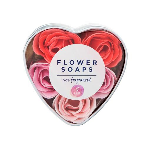 ROSE SCENTED FLOWER SOAP 5 PACK
