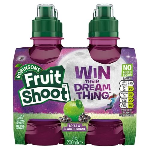 Robinsons Fruit Shoot Apple & Blackcurrant 4x200ml