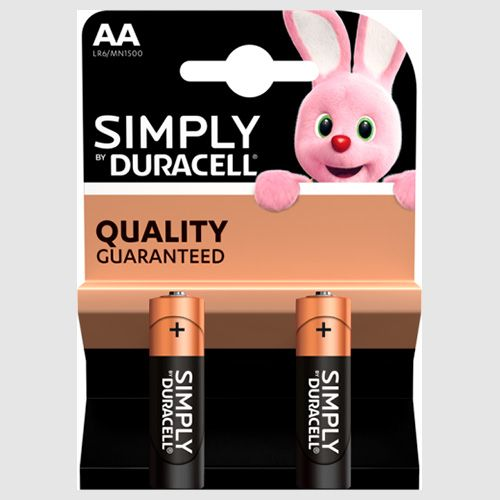 Duracell SIMPLY AA Alkaline Batteries 2 Pack