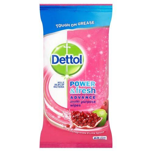 Dettol Multi-Purpose Pomegranate & Lime 40 Wipes