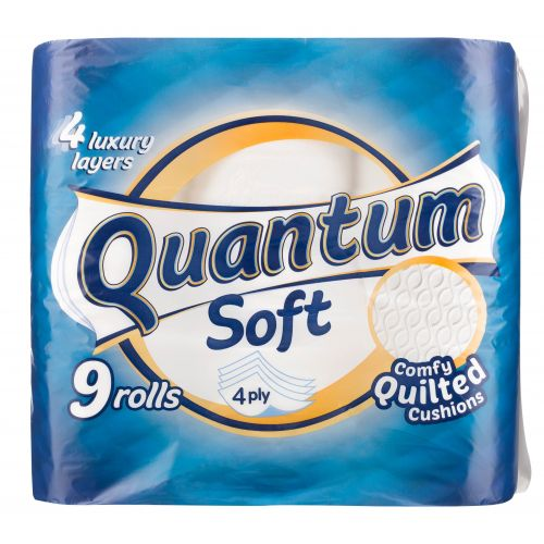 Quantum Soft Quilted Toilet Roll 9 Pack