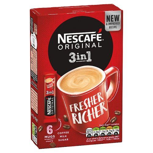 Nescafe Original 3 In 1 6x17g
