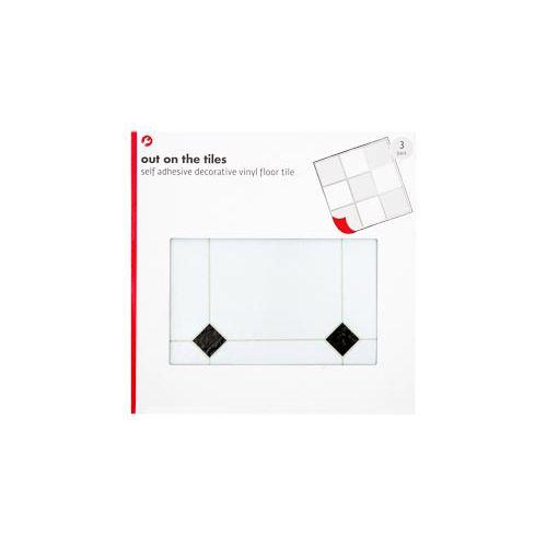 White/black Diamond Tiles 3 Pack
